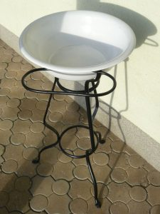 Vintage wash bowl and stand Image