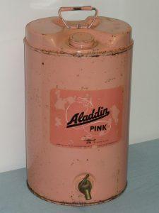 Vintage Aladdin Pink paraffin can Image