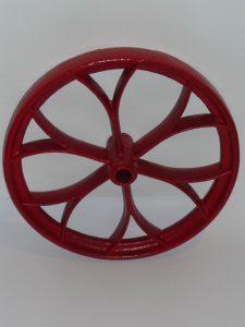 Antique cast iron wheel Image