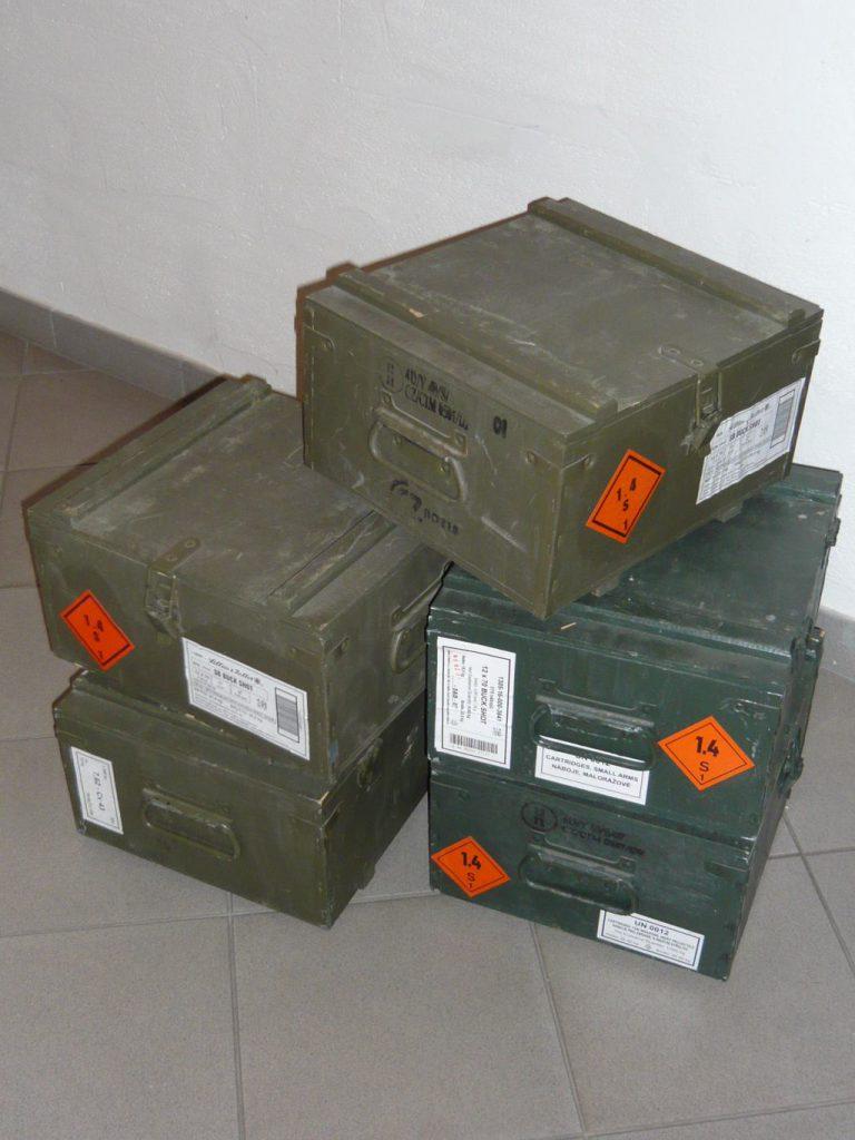 Wooden munition boxes Image
