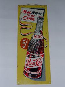 Pepsi Cola advertising sign Image