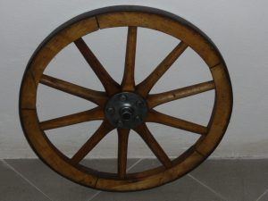Vintage cart wheel Image