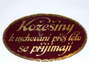 Glass display sign Image