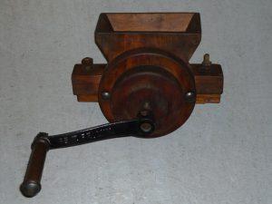 Vintage wooden grinder Image