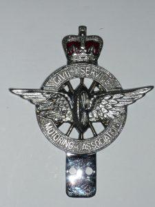 Vintage Civil service car badge Image