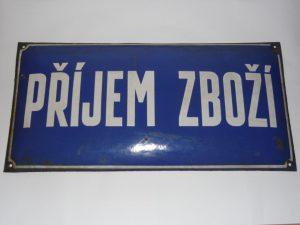 Příjem zboží - enamel sign Image