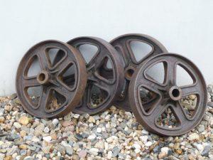 Cast iron wheels Image
