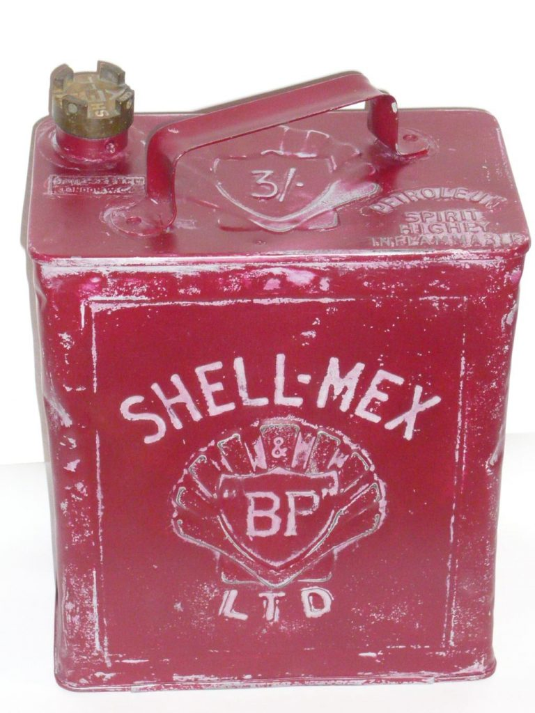 Shell-Mex petrol can Image