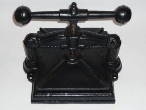 Antique book press Image