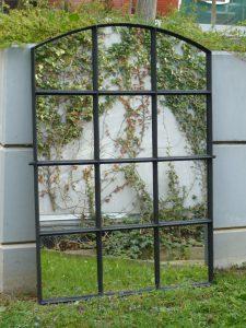 Cast iron factory window mirror Image