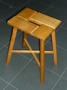 Vintage wooden stool Image